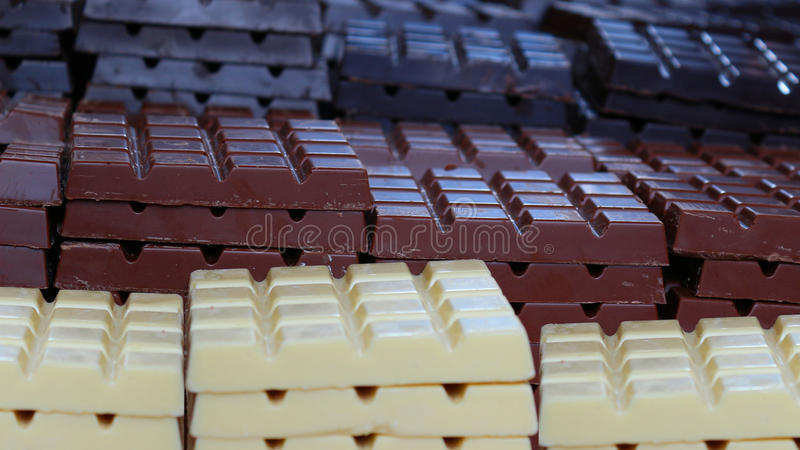 Barras de chocolate foto de stock