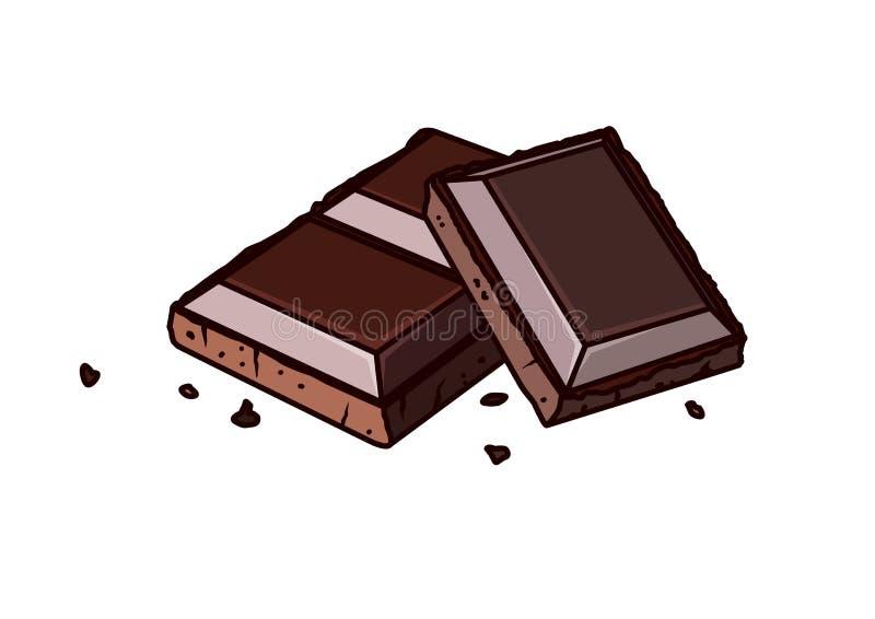 Barras de chocolate ilustração do vetor