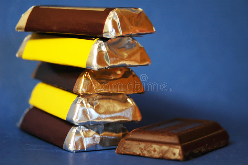Barras de chocolate foto de stock royalty free