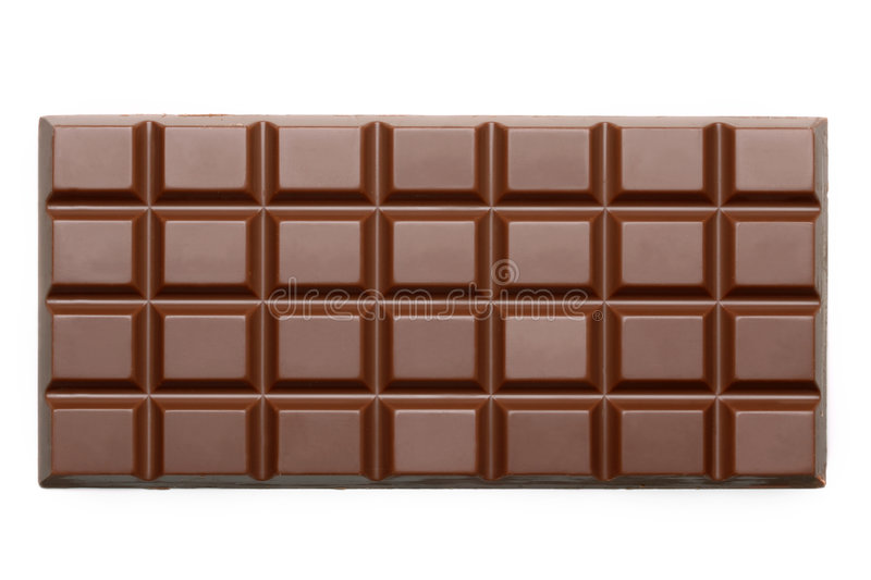 Barras de chocolate fotografia de stock