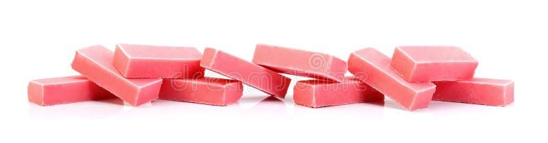Barras de chocolate cor-de-rosa imagem de stock royalty free