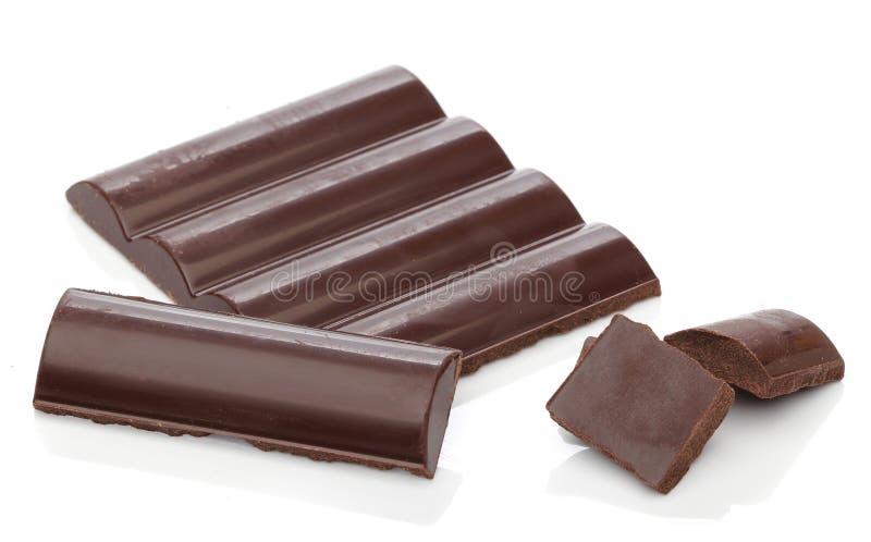 Barras de chocolate deliciosas fotos de archivo