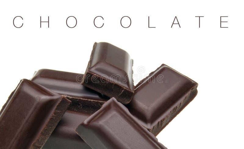 Barras de chocolate escuras quebradas fotos de stock royalty free
