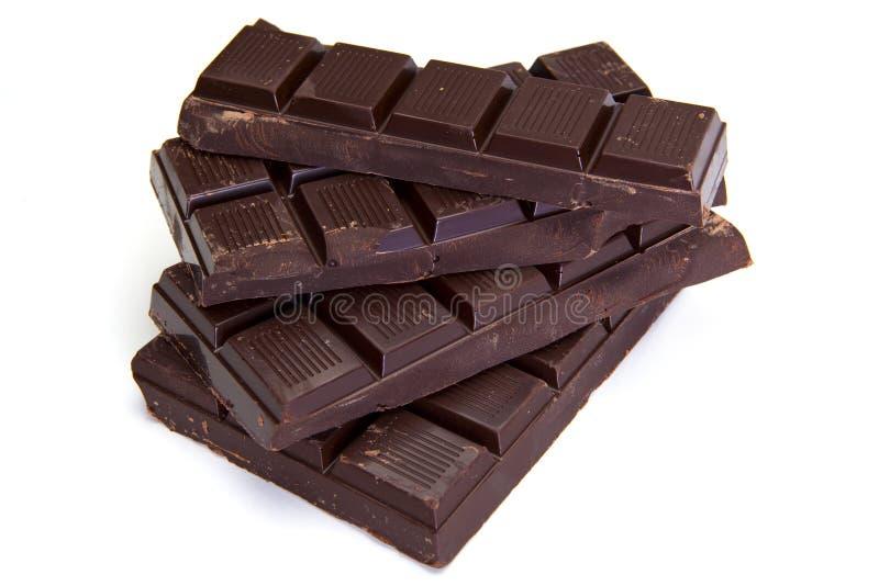 Barras de chocolate oscuras imagenes de archivo