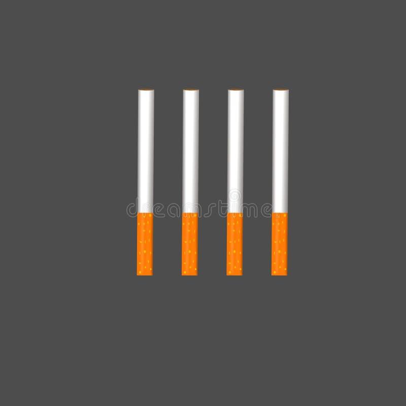 Barras de cigarros do cigarro foto de stock