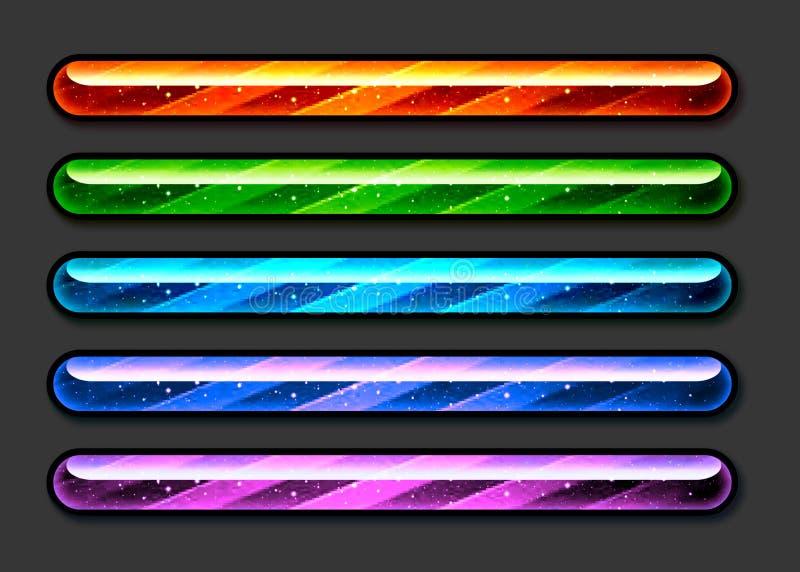 Barras de Colorfull foto de archivo