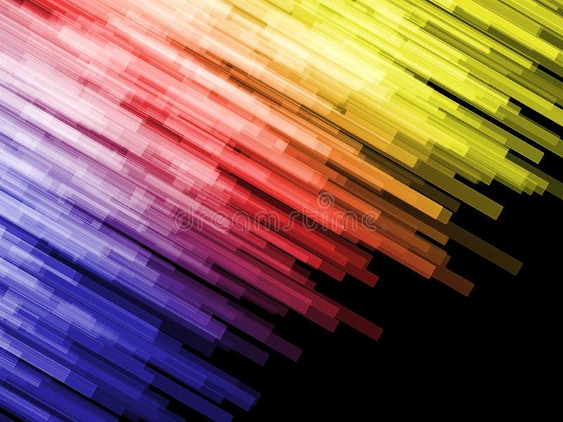 Barras de cor do ângulo imagem de stock royalty free