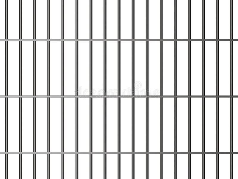 Barras de la prisión ilustración del vector