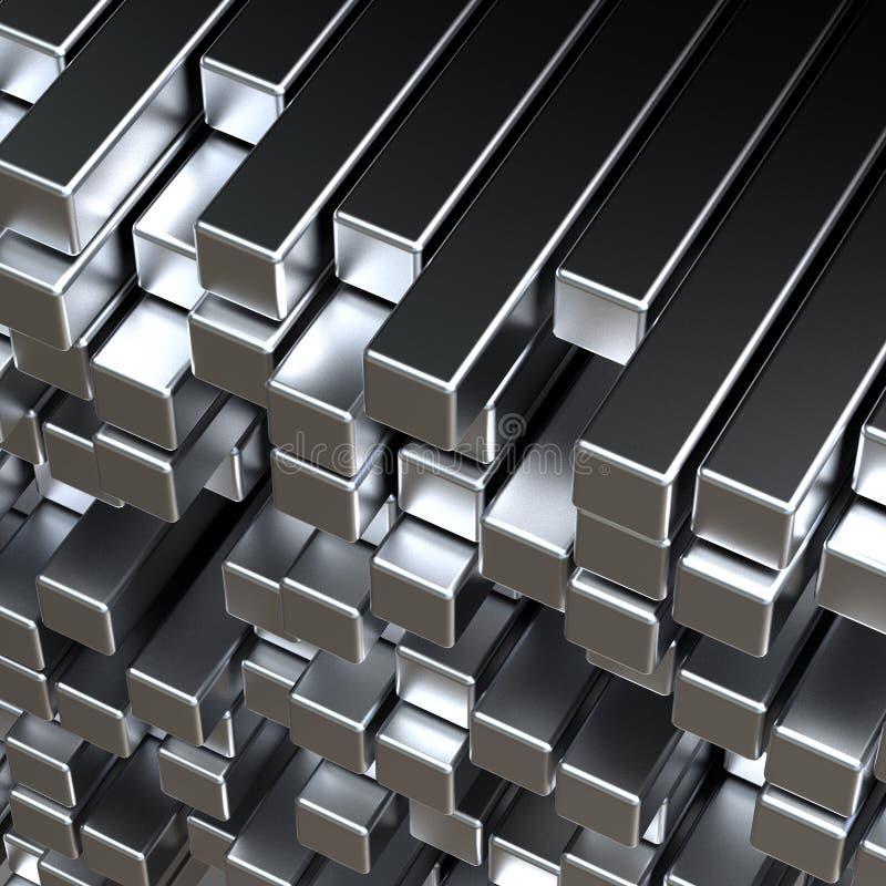 barras de metal 3d imagen de archivo
