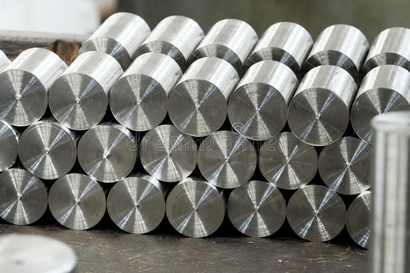Barras de metal redondas ilustração stock