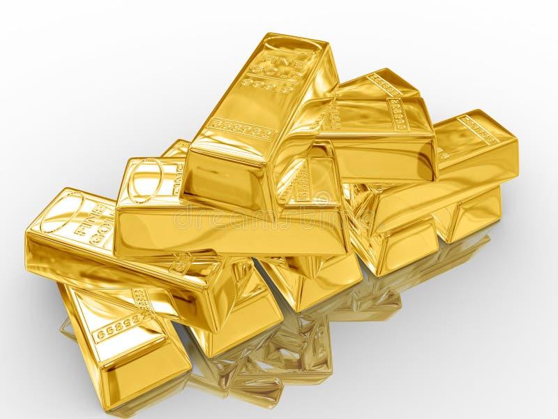 Download Barras de oro. stock de ilustración. Ilustración de metal - 7282261