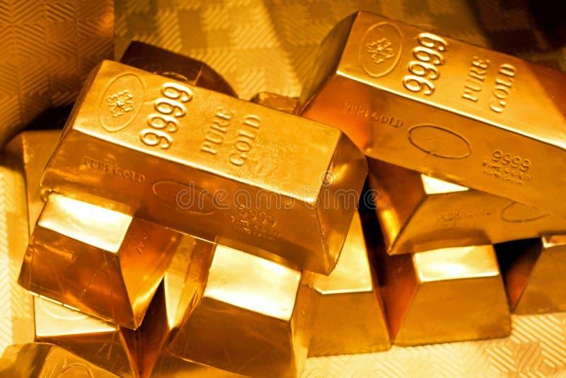 Barras de oro imagen de archivo libre de regalías