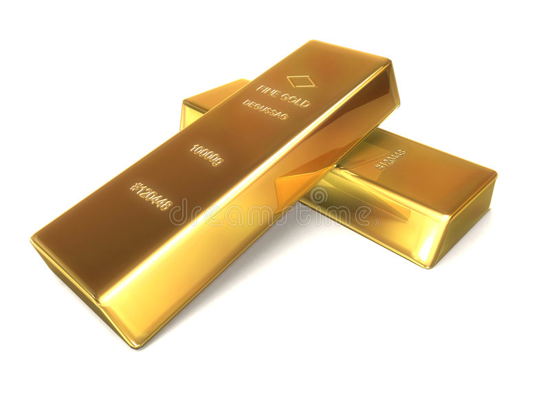 Barras de oro stock de ilustración