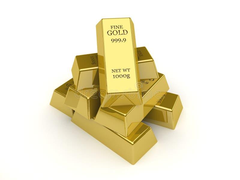 Barras de ouro. ilustração royalty free