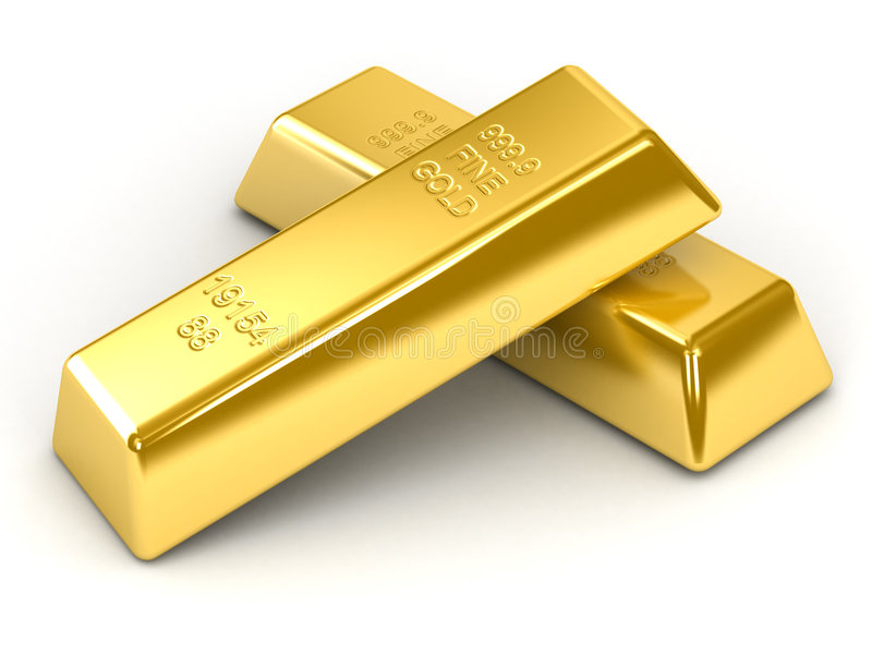Barras de ouro ilustração do vetor