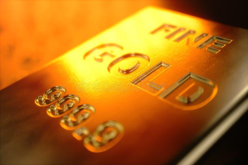 barras de ouro do close-up da ilustração 3D, peso de barras de ouro 1000 gramas de conceito da riqueza e reserva Conceito do suce ilustração royalty free