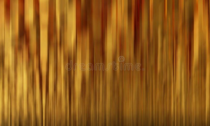 Barras de ouro pentagonais do fundo abstrato ilustração 3D ilustração royalty free