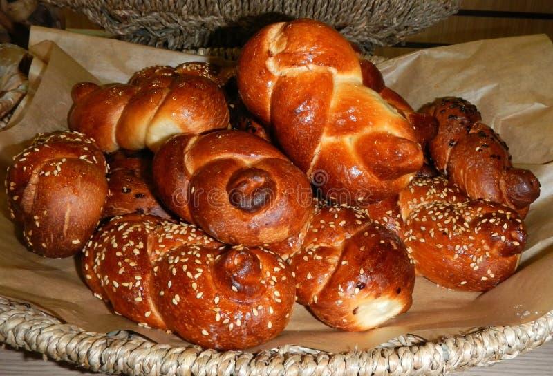 Barras de pan, conocidas como jalá. imágenes de archivo libres de regalías