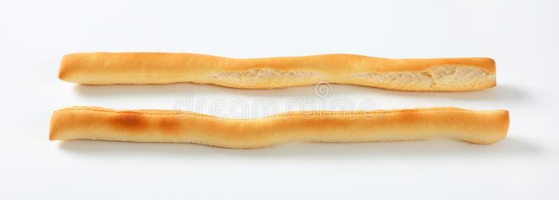 Barras de pan curruscantes imagenes de archivo