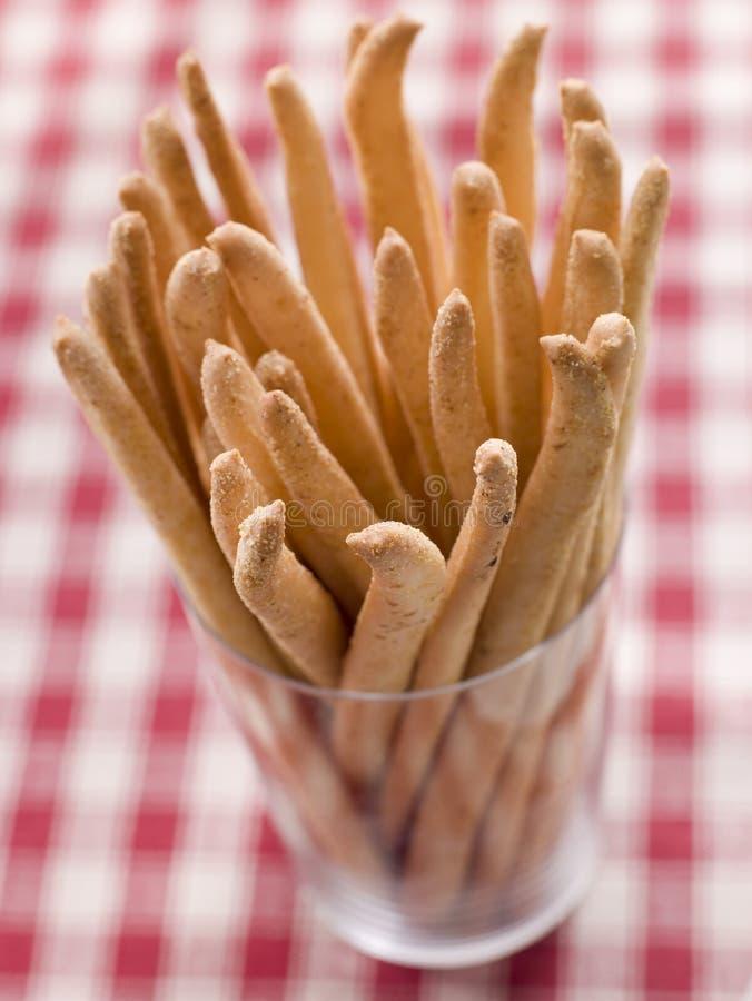 Barras de pan de Grissini imagen de archivo libre de regalías