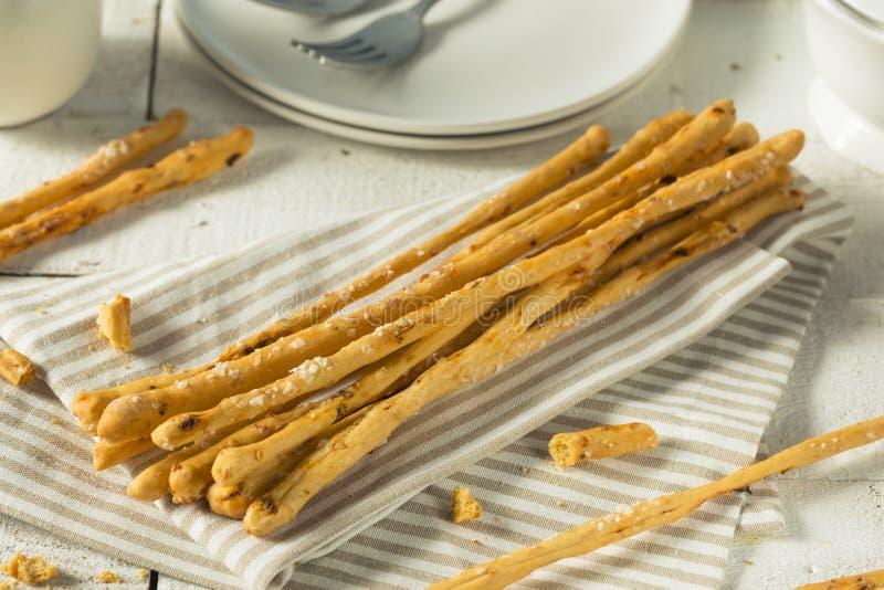 Barras de pan hechas en casa de Grassini del italiano imágenes de archivo libres de regalías