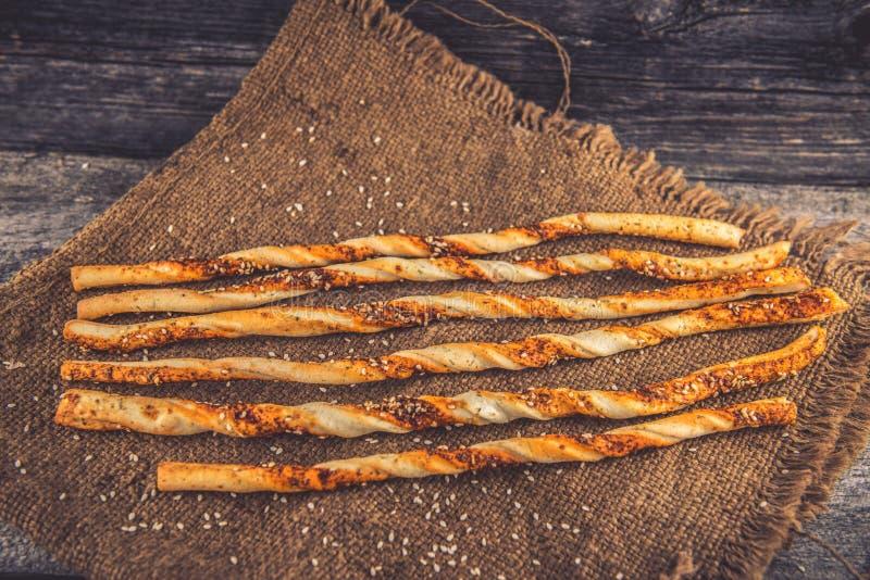 Barras de pan italiano fotos de archivo