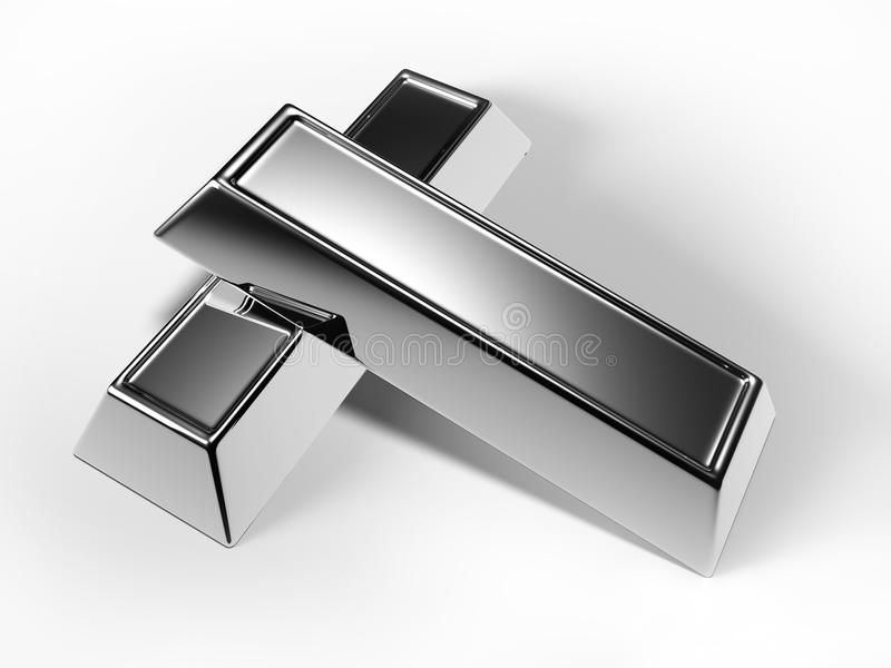 Barras de prata ilustração do vetor