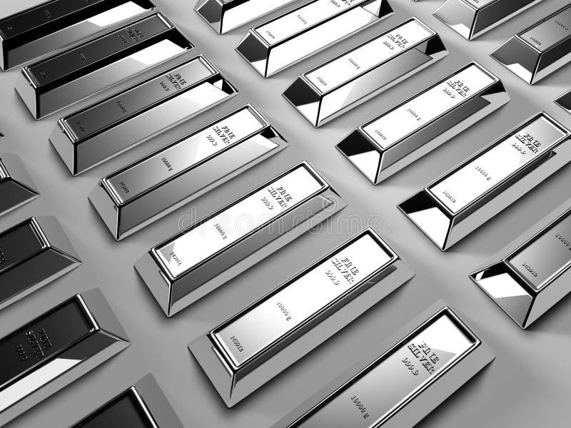 Barras de prata ilustração stock
