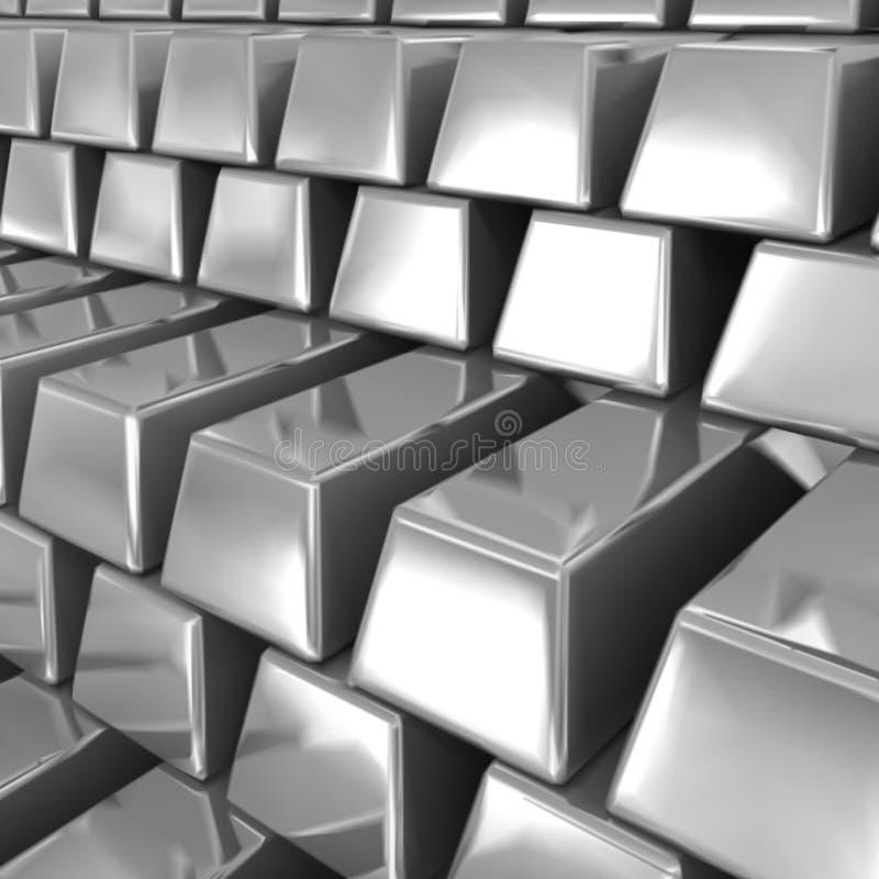 Barras de prata. Vetor ilustração stock