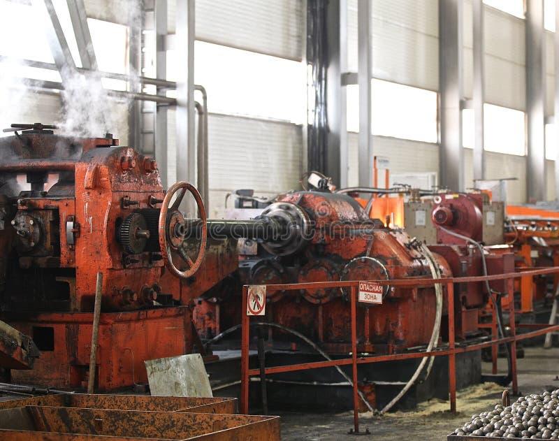 Barras de rolamento helicoidais transversais do moinho imagem de stock