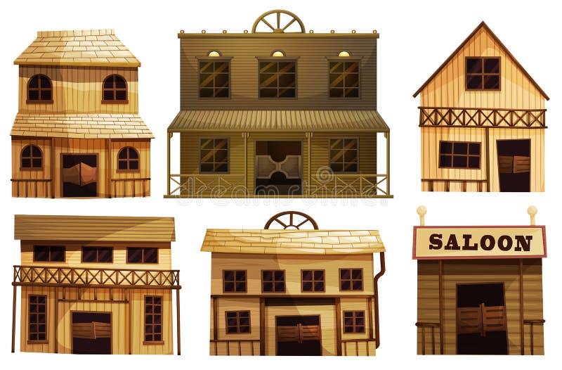 Barras de salón en el oeste ilustración del vector
