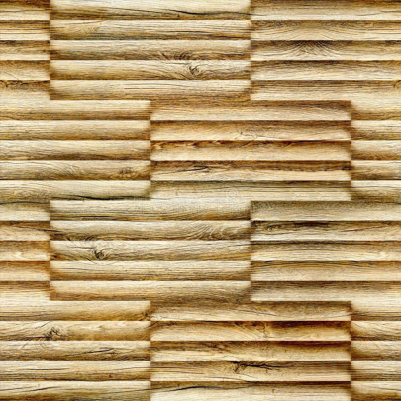 Barras decorativas abstratas empilhadas para o fundo sem emenda - material da decoração - textura de madeira imagens de stock royalty free