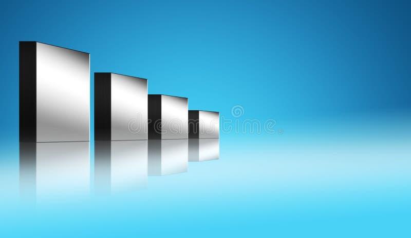 Barras del cromo stock de ilustración