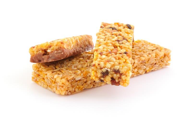 Barras del dulce del cereal imagen de archivo libre de regalías