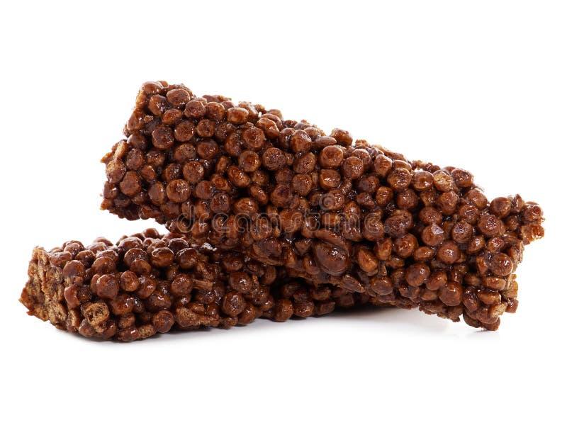 Barras do cereal do cacau foto de stock