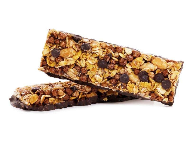Barras do cereal do chocolate fotografia de stock royalty free
