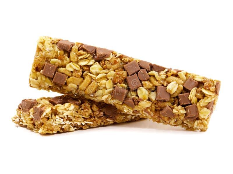 Barras do cereal do chocolate imagens de stock