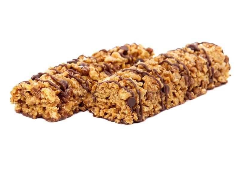 Barras do cereal do chocolate fotografia de stock