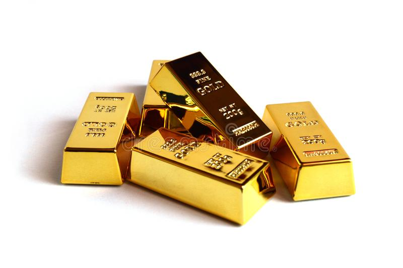 Barras do lingote do ouro foto de stock royalty free