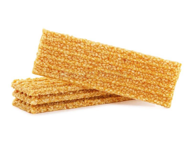 Barras do mel da semente de sésamo fotografia de stock royalty free