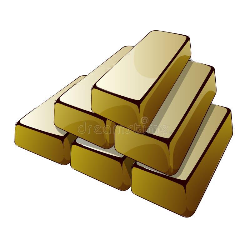Barras do ouro ilustração stock