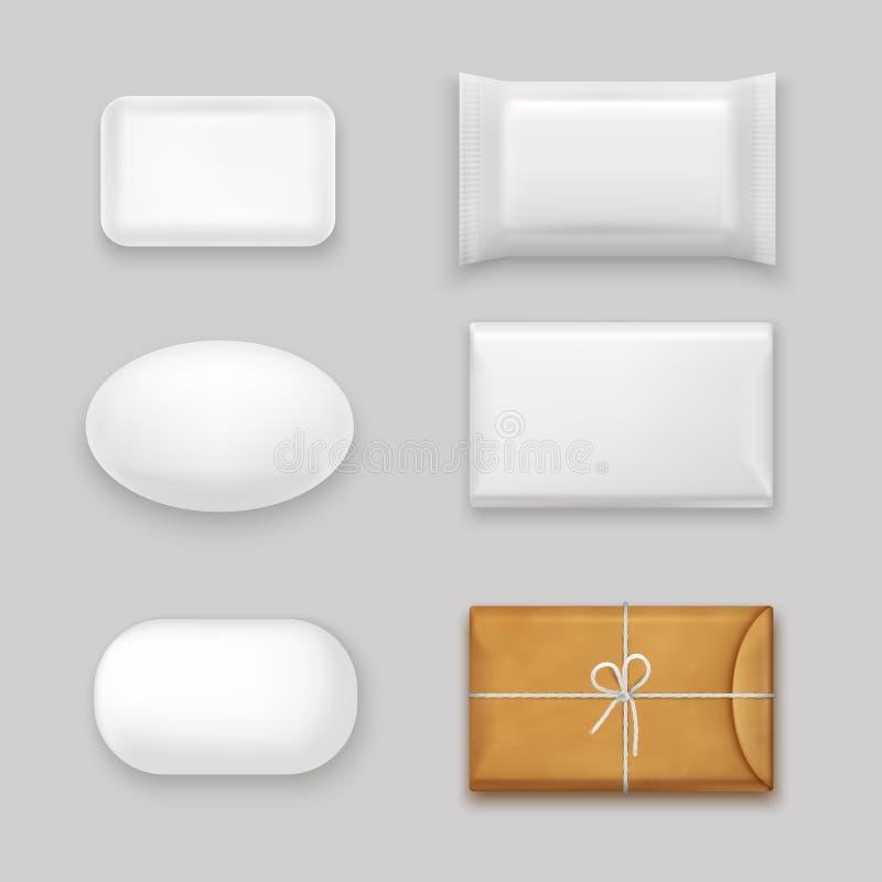 Barras do sabão ajustadas ilustração royalty free