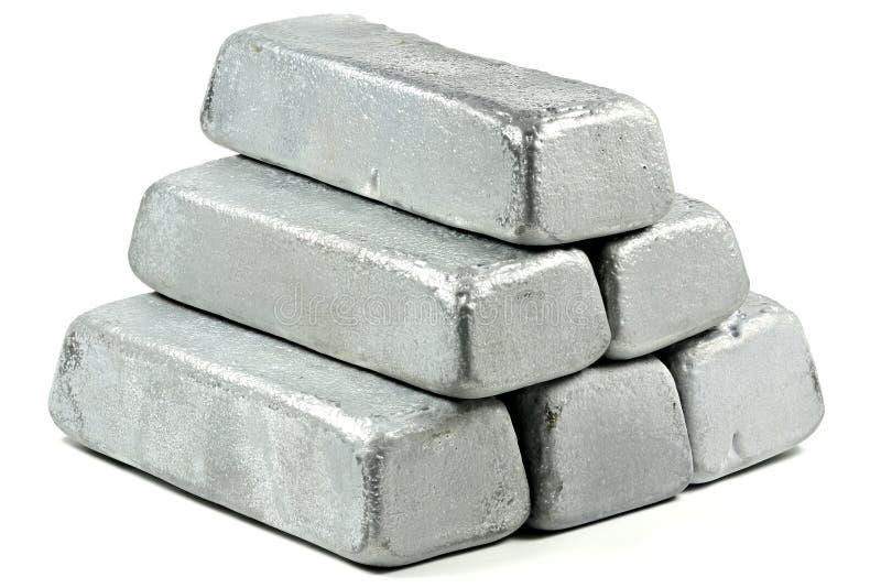 Barras do zinco fotos de stock
