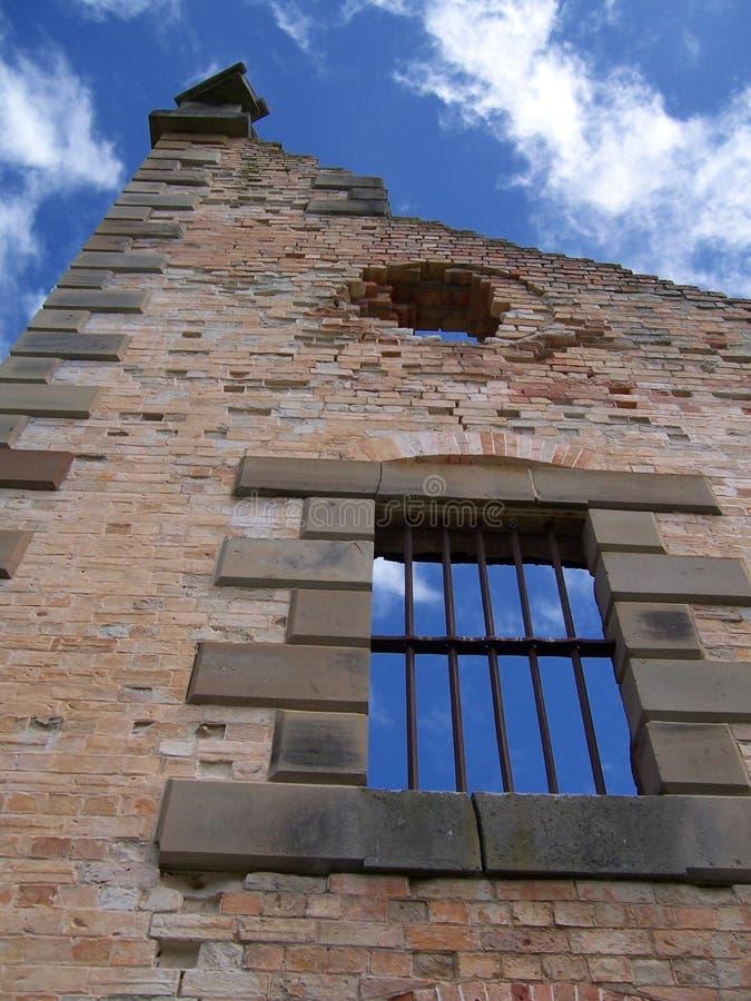 Barras históricas da prisão foto de stock