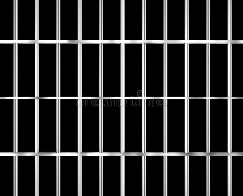Barras isoladas da prisão com apoio ilustração do vetor