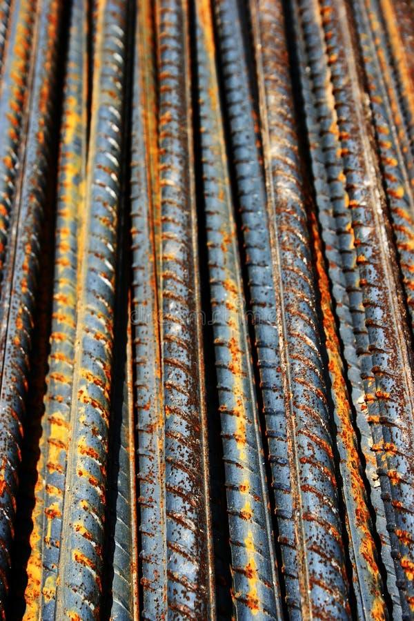 Barras oxidadas del acero del grunge imagen de archivo libre de regalías