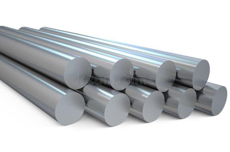 Barras redondas de aço ilustração do vetor