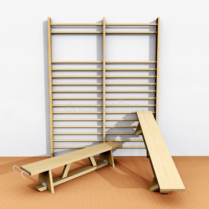 Barras y bancos de pared libre illustration