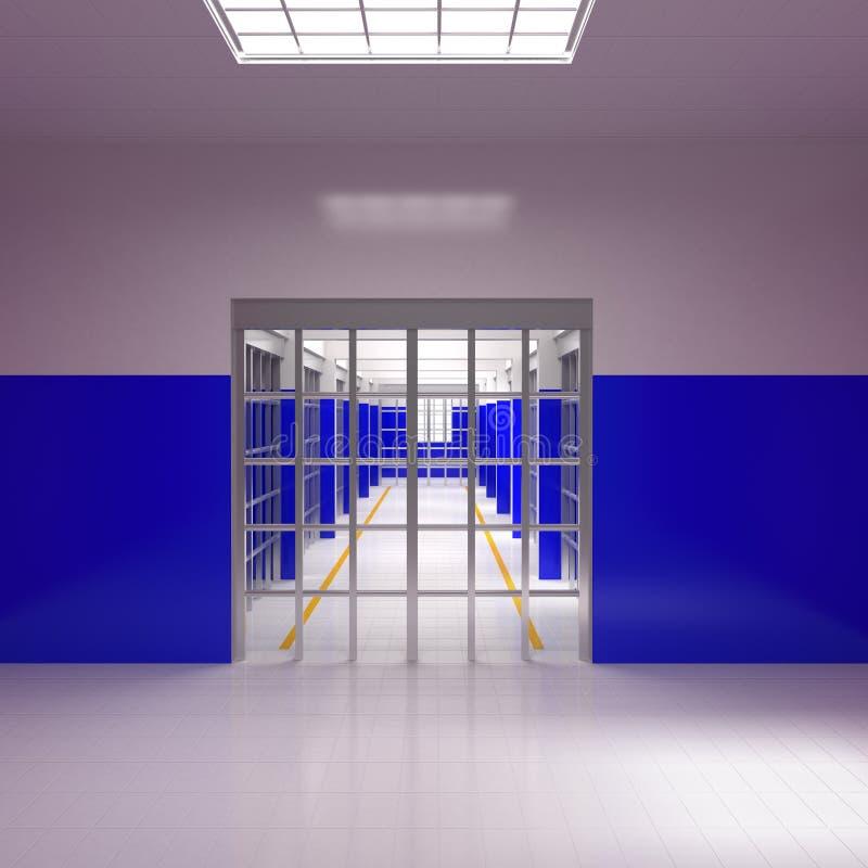 Barras y células de la prisión stock de ilustración