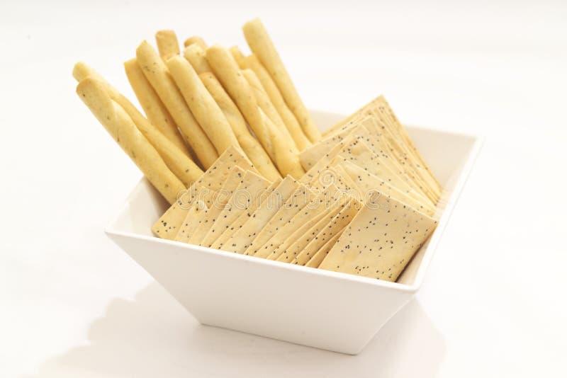 Barras y galletas de pan imagenes de archivo